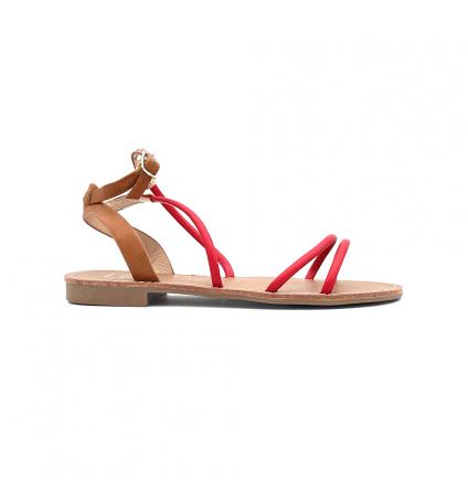 LPB sandales Eden rouge