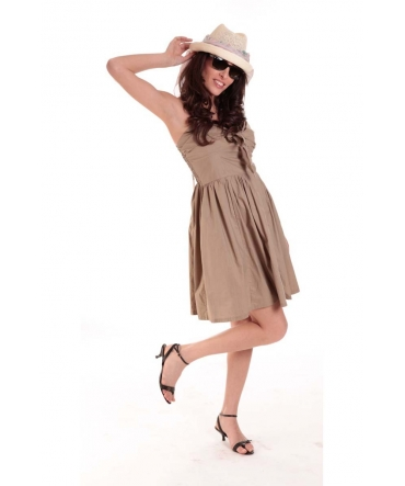 ROBE NOEUD BEIGE