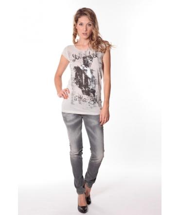 Tee-shirt Little 13q430 Ecru