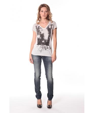 Tee-shirt Kate 13q431 Ecru