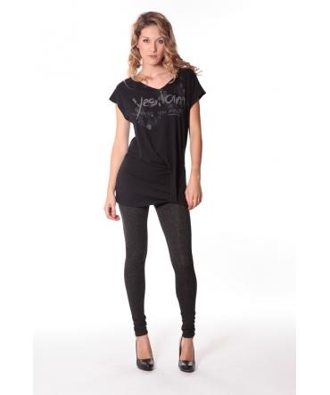 Tee-shirt Yes 13q424 Noir