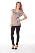 Tee-shirt Yes 13q424 Gris