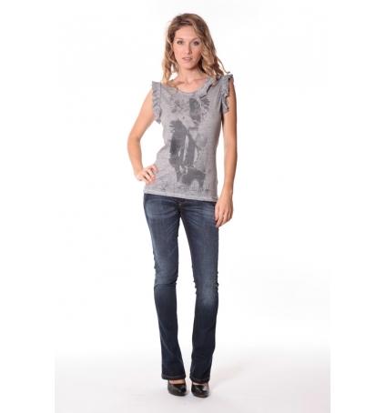 Rich&Royal Tee shirt Glam Gris 13q427/862