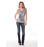Rich&Royal Tee shirt Glam Gris 13q427/862