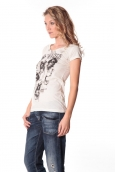 Rich&Royal Tee shirt Visages Ecru13q801/113
