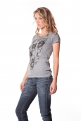 Rich&Royal Tee shirt Visages Gris 13q801/862