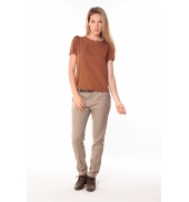 Pantalon Prince de Galles Marron
