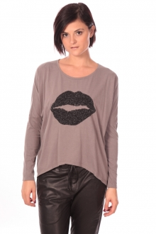 Charlie Joe Top Lips Taupe