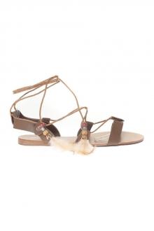 Chaussures à lacets Sandale Noir avec pompons 900-2 zAvQktKJp